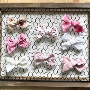 Other - Valentine's Fabric Hair Bows